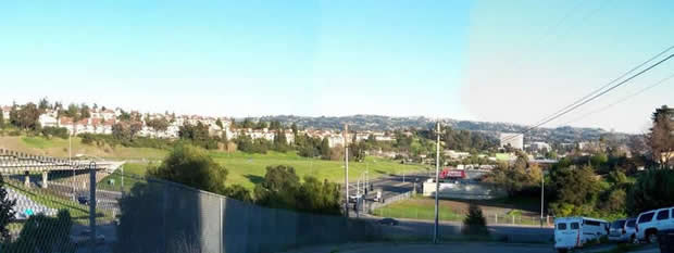 View of the Entrace to Hayward from Hiway 580